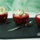 Gaspacho de betteraves et chantilly ail et fines herbes
